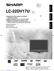 sharp lc22dv17ut 22 in 720p lcd hdtv manuals rh manualslib com Sharp 42 LCD 1080P HDTV Sharp AQUOS HDTV