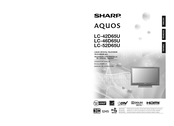 Sharp AQUOS LC-52D65U Operation Manual
