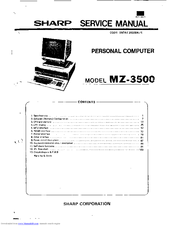 Sharp MZ-3500 Service Manual