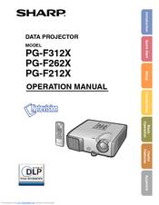 sharp notevision pg f212x operation manual pdf download rh manualslib com Sharp DT 500 Manual Sharp Projectors Owner Manuals