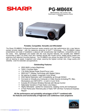 Sharp Notevision PG-MB60X Specification Sheet