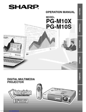 Sharp PG-M10XU Operation Manual