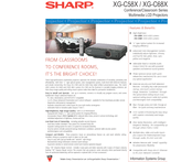 Sharp Notevision XG-C68X Specification Sheet