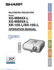 Sharp XG-MB50X-L - Notevision XGA DLP Projector Operation Manual