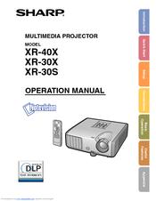 sharp xr 30x operation manual pdf download rh manualslib com  xr30x sharp projector lamp