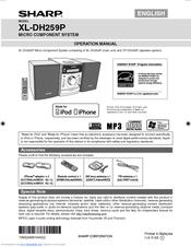 sharp xl dh259p operation manual pdf download rh manualslib com sharp xl-dh259 manual Sharp ER-A170