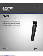 shure legendary performance sm57 user manual pdf download rh manualslib com shure sm57 user guide shure sm58 manual pdf