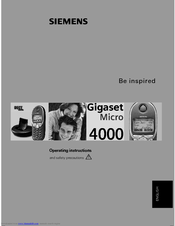 Siemens Gigaset 4000 Comfort Operating Instructions Manual