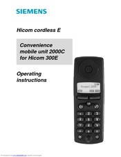 Siemens Hicom 300E Operating Instructions Manual