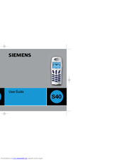Siemens S40 User Manual