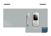 Siemens SXG75 User Manual
