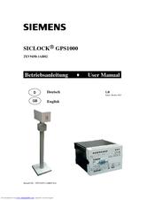 siemens siclock gps1000 manuals rh manualslib com
