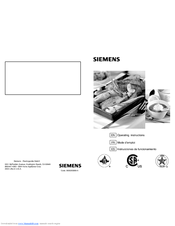 Siemens 5551 Operating Instructions Manual
