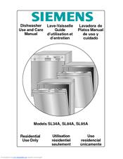 Siemens dishwasher sl34a user's manual download free.