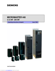 Siemens MICROMASTER 440 Operating Instructions Manual
