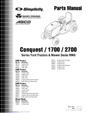 Simplicity 2723H Manuals
