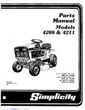 SIMPLICITY 4208 PARTS MANUAL Pdf Download