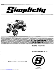 simplicity sovereign 3416h manuals rh manualslib com 2000 simplicity sovereign owners manual simplicity sovereign parts manual