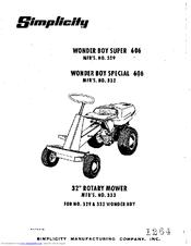 simplicity wonder boy super 606 manuals rh manualslib com Parts Manual Simplicity Mower Manual