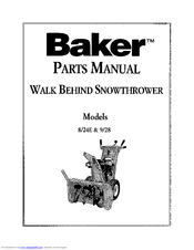 Simplicity Sno-Away 9-70 Manuals