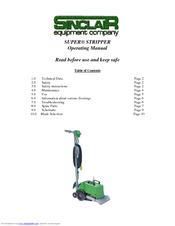 SINCLAIR SUPER STRIPPER OPERATING MANUAL Pdf Download - Sinclair floor scraper