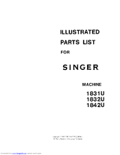 Singer 1842U Illustrated Parts List