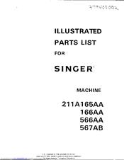 Singer 211A567AB Parts List