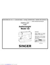 singer featherweight 132 manuals rh manualslib com Singer 221 Singer 221