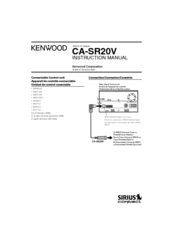 Kenwood CA-SR20V Instruction Manual