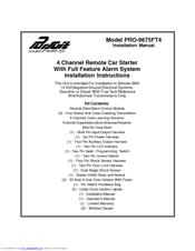 audiovox pursuit pro 9675ft4 manuals rh manualslib com Car Alarm Audiovox TV