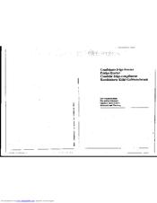 Smeg Fridge Freezer CI328STB Maintenance Manual