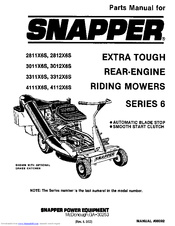 snapper 3312x6s manuals rh manualslib com snapper parts manual#06026 snapper parts manual 06128