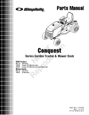 SIMPLICITY CONQUEST SERIES PARTS MANUAL Pdf Download