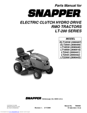 Snapper LT2042 Parts Manual