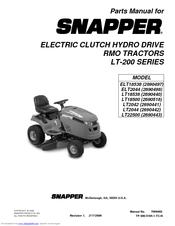 Snapper LT2042 Parts Manual