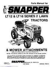 snapper lt16 manuals