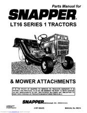 snapper lt16 series 1 manuals rh manualslib com Snapper LT 16 Garden Tractors Snapper LT 16 Parts Manual