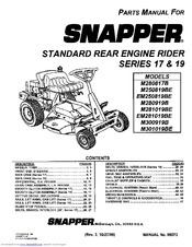 snapper m281019be manuals rh manualslib com snapper parts manual pdf snapper parts manual pdf