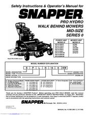 snapper operator manuals