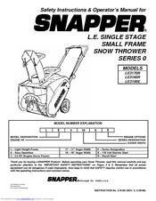 snapper le3170r le3190r le3190e safety instructions operator s rh manualslib com Old Snapper Snowblower Parts snapper le 17 snowblower parts
