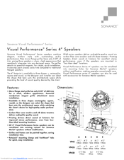 sonance visual performance vp45r specification sheet pdf download rh manualslib com