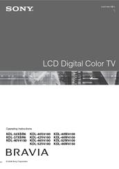 sony bravia kdl 46v4100 manuals rh manualslib com Sony LCD TV Sony KDL 46V4100 Manual