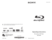 Sony 3-452-779-11(1) Operating Instructions Manual