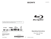 Sony 4-135-656-11(1) Operating Instructions Manual