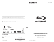 Sony 4-169-142-11(1) Operating Instructions Manual