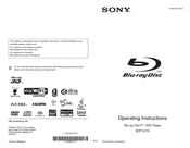 Sony 4-188-206-11(1) Operating Instructions Manual