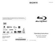 Sony BDP-S480 Operating Instructions Manual