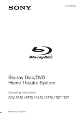 Sony dav-hdx285 hdx585 hdx685 home theater system owners manual.