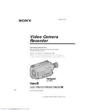 Sony CCD TR 502 E User Manual