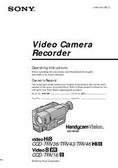 sony ccd trv16 operating instructions primary manual operating rh manualslib com sony ccd-trv16 manual sony ccd-trv16 manual